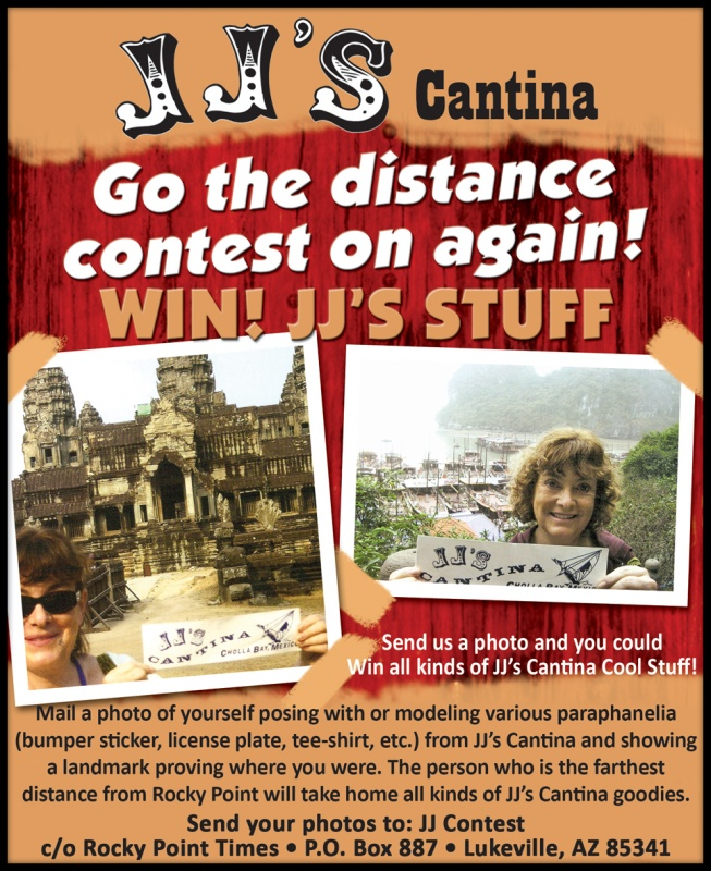 JJ's Cantina Go the distance contest
